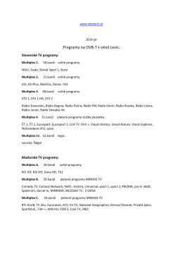 Programy na DVB-T v okolí Levíc: