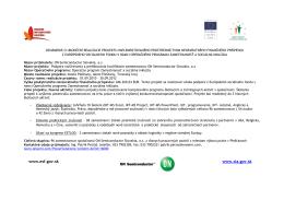 Nenávratný finančný príspevok - projekt ESF