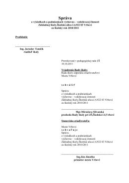 hodnotiaca správa 10-11 - Základná škola,Školská ul.4,Vrbové
