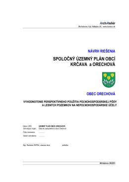 Vyhodnotenie PP Orechová
