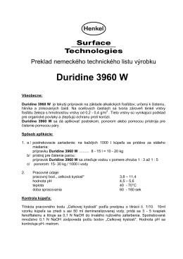 Duridine 3960 W