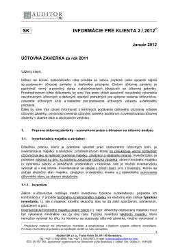 Účtovná závierka za rok 2011