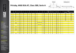 Príruby, ANSI B16.47, Class 300, Serie A
