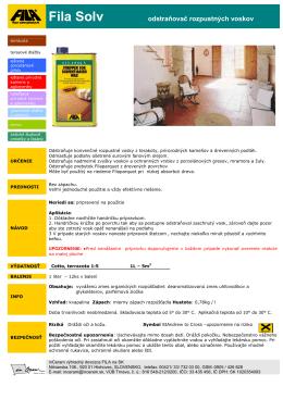 FILA Solv - odstraňovač rozpustných voskov