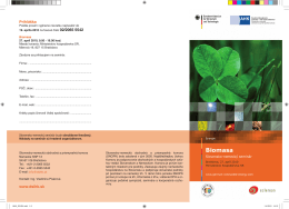 Biomasa - Ministerstvo pôdohospodárstva a rozvoja vidieka SR