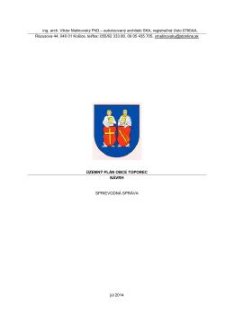 Textová časť - Obec Toporec