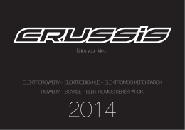 Katalog elektrorowerów Crussis 2014