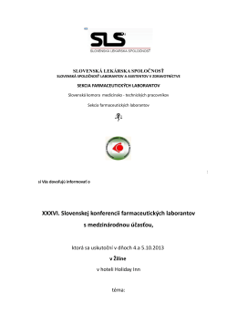 XXXVI. Slovenskej konferencii farmaceutických