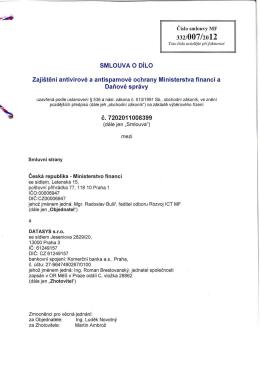 Smlouva o poskytnutí služeb (.PDF, 6380 kB)