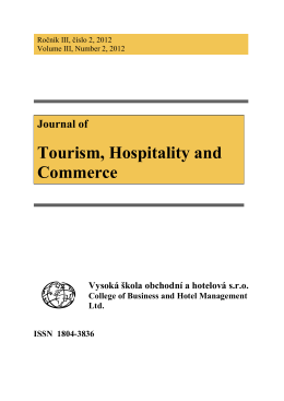 Journal of Tourism, Hospitality and Commerce