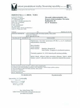 Letové prevádzkové služby Slovenskej republ iky