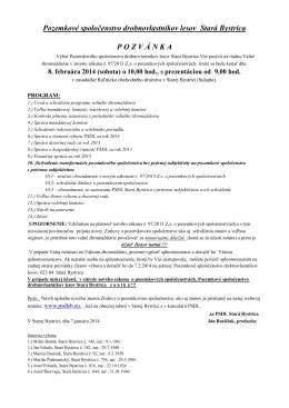 formát PDF - Vitajte na stránkach PSDL Stará Bystrica
