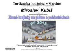 Miroslav Kubiš - Turčianska knižnica v Martine