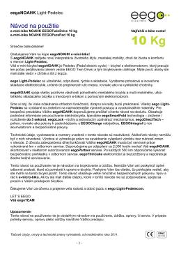 Elektrobicykel eegoNOAHK II