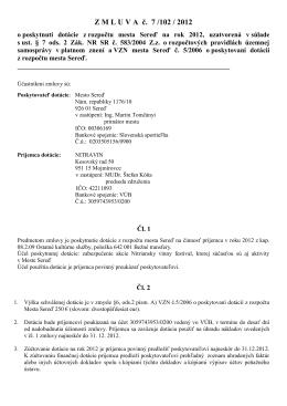 ZMLUVA č. 7 /102 / 2012 - Transparentne