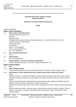 Služby stavebného dozoru pre stavbu Zásobovanie vodou a