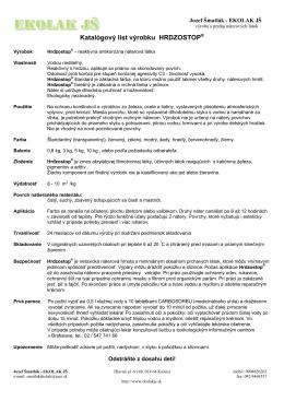 Katalógový list výrobku HRDZOSTOP