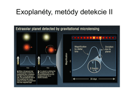 Metódy detekcie exoplanét II