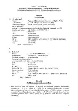Zmluva o dielo č. 853-14.pdf - Psychiatrická nemocnica Hronovce