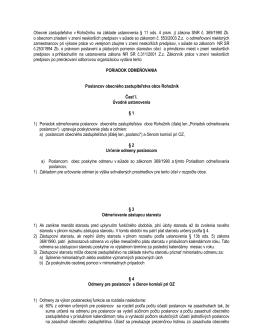 poriadok odmeňovania poslancov OZ 2010 - návrh