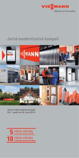 Jarná modernizačná kampaň 2014 – Informácie o