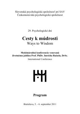program vo formáte .pdf - Slovenská psychologická spoločnosť pri