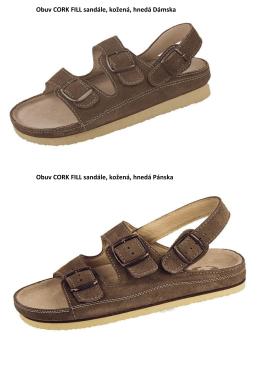 Obuv CORK FILL sandále, kožená, hnedá Dámska Obuv CORK
