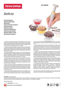 Delícia - TESCOMA