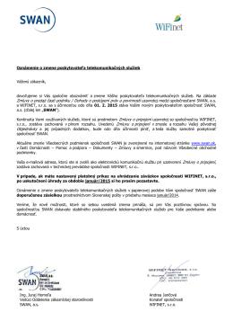 Zmluvy o predaji časti podniku / Dohody o