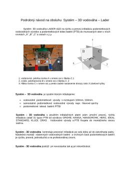 Podrobný návod na obsluhu Systém – 3D vodováha – Lader