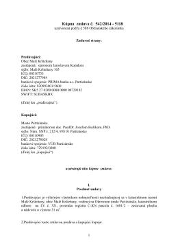 Kúpna zmluva č. 542/2014 - 5118