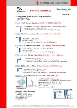 mikroskúmavky a mikrocentrifugačné skúmavky do 5 ml