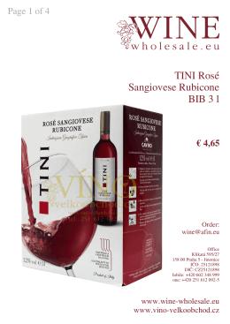 TINI Rosé Sangiovese Rubicone BIB 3 l