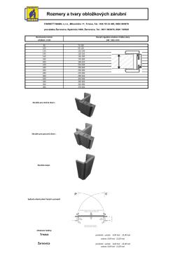Rozmery a tvary obložkových zárubní