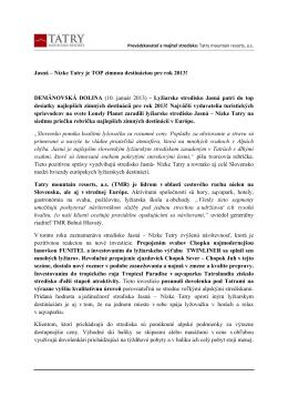 Jasná – Nízke Tatry je TOP zimnou destináciou pre rok