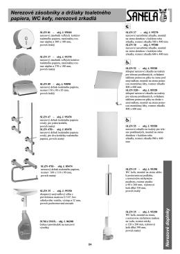 Nerezové zásobníky a držiaky toaletného papiera, WC kefy