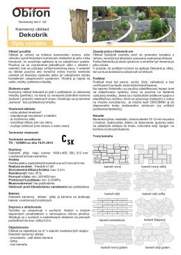 Novy Technicky list Dekobrik Kamen 072012