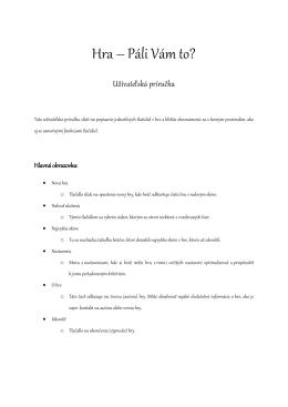 Používateľská príručka v PDF