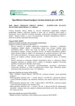 specifikacia_POD_ 2015 - Program obnovy dediny