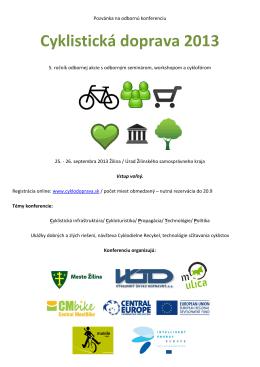 Cyklistická doprava 2013