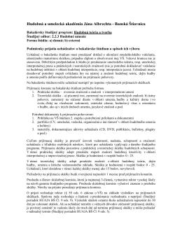 Hudobná a umelecká akadémia Jána Albrechta - Banská
