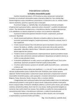 Hodina slovenského jazyka 2012