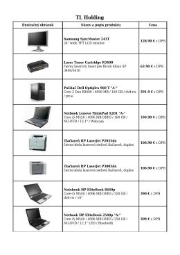 Cenník počítačov