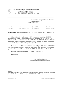 Dodatok č. 2 ku kontraktu na rok 2013