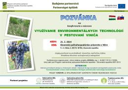 využívanie environmentálnych technológií v pestovaní viniča