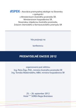 Pozvánka na konferenciu 2012 - ASPEK-u