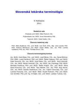 Slovenská lekárska terminológia