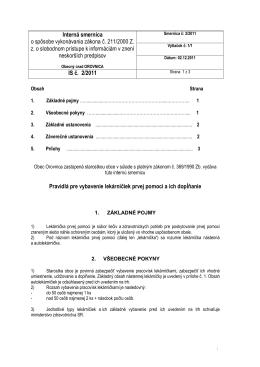 Interná smernica č. 2