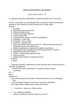 zápisnica z 22.06.2012