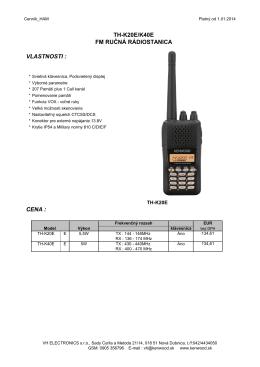 th-k20e/k40e fm ručná rádiostanica vlastnosti : cena